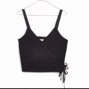 NWT- Madewell Finale Tank Top w/ side ties XS